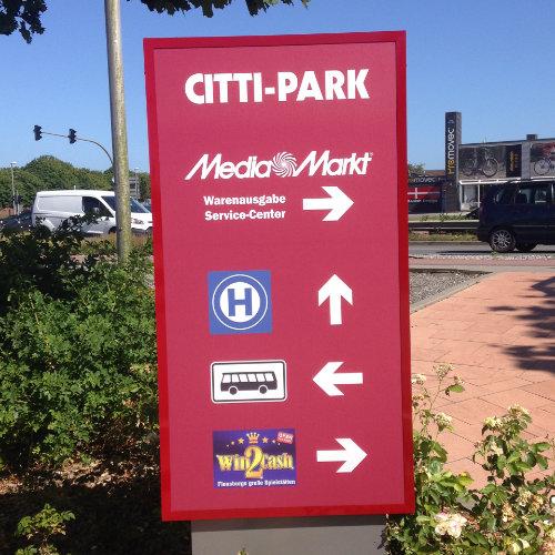 Hinweisschild Citti-Park