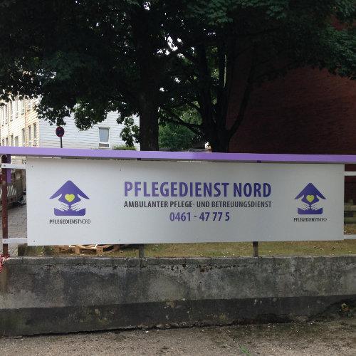 Firmenschild Pflegedienst Nord
