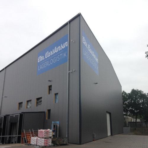 Gebäudebeschriftung Lagerhalle Carstensen